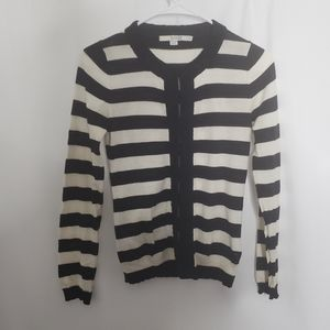 Boden striped beaded cardigan